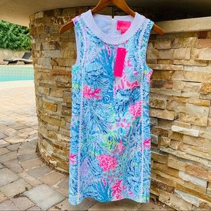 Lilly Pulitzer Mila Stretch Shift Dress Sink Swim
